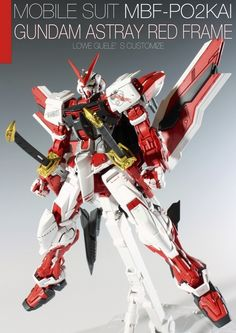 Painted Build: MG 1/100 Gundam Astray Red Frame Kai