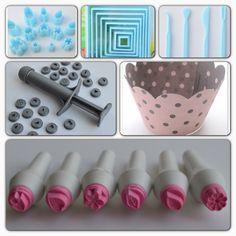 Olika dekorationsverktyg och tillbehör till cupcakes och tårtor. www.ihobby.se
