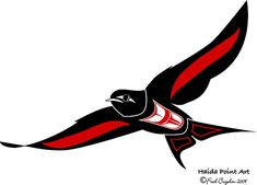 Northwest Coast Native Style Art.  Swallow Haida Art
