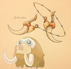 Pokemon in weapon form