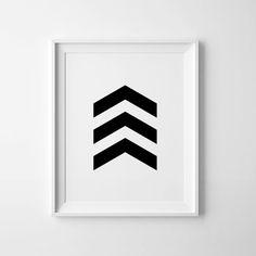 Chevron art, black chevron wall art, black arrow print, chevron decor, downloadable wall art printable, geometric art, black chevron print