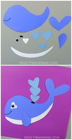 Heart whale valentine craft for kids to make! Cute idea for an art project. (Heart shape animal for valentines day) Heart whale valentine craft for kids to make! Cute idea for an art project. (Heart shape animal for valentines day) Valentine's Day Crafts For Kids, Valentine Crafts For Kids, Daycare Crafts, Toddler Crafts, Projects For Kids, Art For Kids, Homemade Valentines, Diy Projects, Whale Crafts