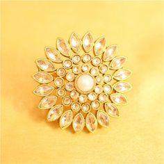 Gorgeous Pearl & Zircon Adjustable Ring
