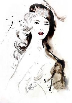 china beauty fashion illustration Olga Dvoryanskaya Ukrainian artist
