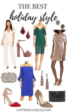 The best Holiday style of 2016. Find the best Holiday trends for Christmas and New Years Eve outfits. Sequin dress, lace dress, off the shoulder, rompers and jumpsuits. Find the BEST NYE outfit!