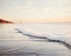 "Beach Decor, Ocean Wave, Seascape, Sunset Photograph, Fine Art Beach Photography, Sea Wave, Foamy Water, ""Wash Away"""