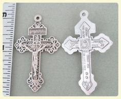 Pardon crucifix great for rosary making, rosaries parts supplies crucifixes