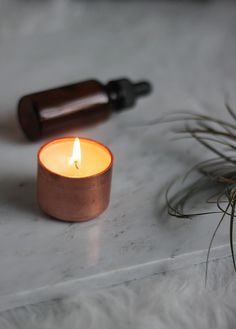 DIY Copper Candle @themerrythought