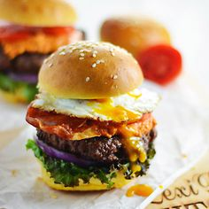 Home-Ground Burgers With Bacon, Cheese, And Fresh Thyme Recipe ...
