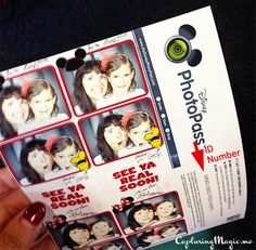 Photo Booth Photos at Disney World - ID Number
