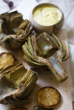 Buttery Pan-Seared Artichokes with Ponzu Aioli