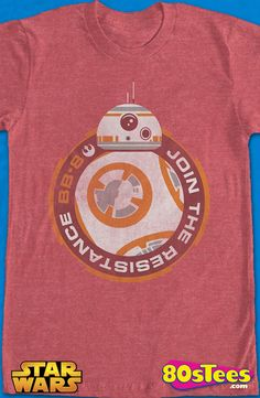 BB-8 Join The Resistance Star Wars T-Shirt: Star Wars Mens T-Shirt Star Wars Geeks:  Every day can be special wearing this cool men's style design shirt with great art and illustration.