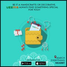 Are you a handicraft lover? Love decorating your interiors? You might roam over the shop to shop to find the best, isn't it? UzzMe is exactly for the people like you. Just install and enjoy shopping with offers. People Like, Handicraft, Google Play, Interiors, App, Decorating, Shopping, Craft, Decoration