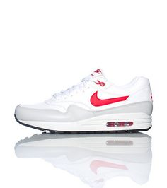 super popular 9bbbc 3d7cc Nike Air Max 1 Cuero Hombre Semáforo En Rojo Blanco Gris fashion sneakers  modern style with a big off is here ,Don t miss it .