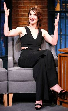 Cobie Smolders from The Big Picture: Today's Hot Photos Gooaalll! The Late Night with Seth Meyers show definitely scored by having the brunette bombshell stop by.