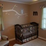 This is pretty much what I want for my baby's room except yellow and more of a tree and branches(: