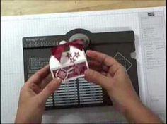 Vidéo sur la création de petits paniers de Noël avec la planche de marquage insta enveloppes de Stampin'UP! www.jardindepapier.com