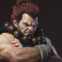 Here is my first entry for He is one of my favorite video game character. At first I was playing with a portrait of Liam Neeson I did in Zbrush. Then I decided to push it a little further and make a final character. I will finish the liam neeson Ryu Street Fighter, Dragon Ball Z, Street Fighter Characters, 3d Fantasy, Art Station, Video Game Characters, Fighting Games, 3d Character, The Villain