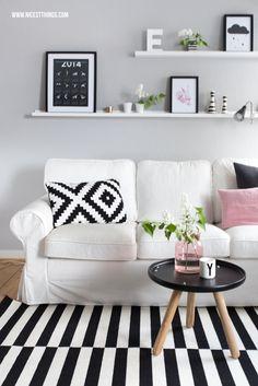 Nicest Things: Scandinavian Home Living Room Wohnzimmer Normann Copenhagen Ikea Design Letters Kähler Ektorp