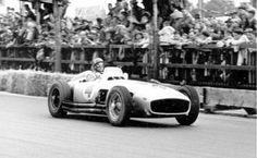 Swiss Grand Prix in Bremgarten, August 22, 1954. Juan Manuel Fangio won driving a Mercedes.