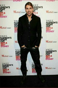 David Garrett arrives at the launch of Vogue Fashion's Night Out at Pitt Street Mall on September 8,2011 in Sydney,Australia)....❤