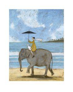 On the Edge of the Sand - Affischer av Sam Toft på AllPosters.se