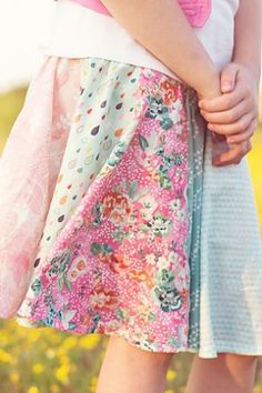 Sew a Spring Fat Quarter Project - Make it Coats #fatquarterprojects #sewing #simpleskirt