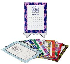 Charming Collection Desk Calendar