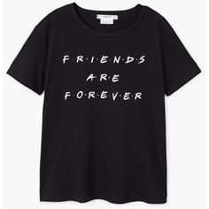 Friends T-Shirt ($24) ❤ liked on Polyvore featuring tops, t-shirts, short sleeve tee, short sleeve tops, print tees, mango t shirt and mixed print top