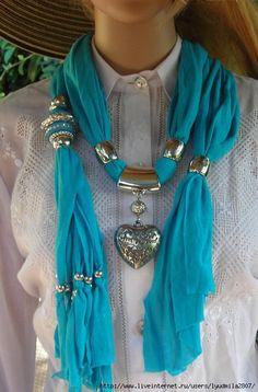 Bijuterii realizate din eșarfă de mătase. Discuție privind LiveInternet - Serviciul rus Diaries online