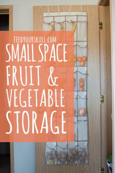 Small Space Fruit and Vegetable Storage Idea!:https://feedyourskull.com/2016/02/01/small-space-fv-storage/