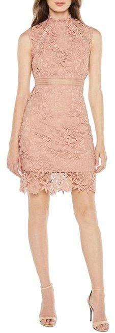 1472b6479c64 Bardot Blush Paris Laceup Bodycon Lace Mid-length Cocktail Dress Size 6 (S)