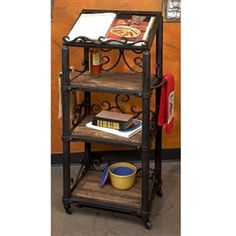 Wrought Iron Siena Cookbook Holder - Floor