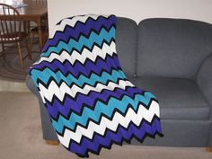 My next crochet project - A ripple blanket using Caron Simply Soft. Source:  MidState ripple (2006) by PattyPA, via Flickr