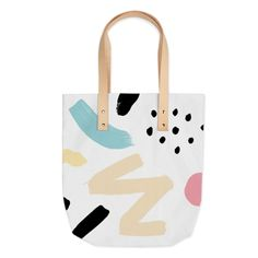 """Body is 100% Cotton and handles are leather.Bag is 16"""" wide and 16"""" deep. The straps are 12"""" high.Since every piece is custom made, it may take 2-4 weeks for delivery."""