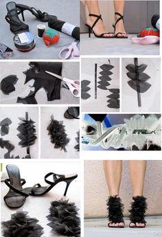 Top 10 Unique DIY Heels Ideas- Old shoes revamped Shoe Crafts, Diy Crafts, Shoe Makeover, Do It Yourself Fashion, Old Shoes, Diy Fashion, Fashion Design, Work Fashion, Unique Fashion