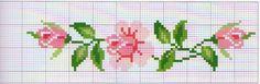 schema rosa a punto croce
