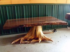 Walnut Slab on Cedar Stump