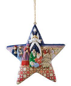 Jim Shore Christmas Ornament, Nativity Star - All Christmas Ornaments - Holiday Lane