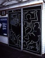 Keith Haring,Untitled, 1984, chalk on paper, 88 1 /2 x 46 inches, photographer: Ivan Dalla Rana © Keith Haring Foundation