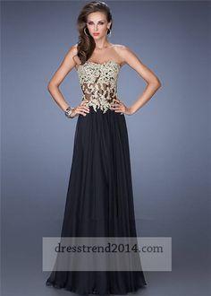 Sexy Sheath Sweetheart Corset Back Long Black Lace Beaded Prom ...