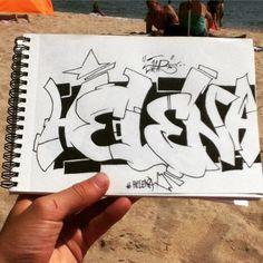 The name Helena ( @helena_iliya ) #art #artsy #artistic #graff #graffart #graffname #grafflettering #graffiti #graffitiart #graffitiname #graffitiname #graffitiporn #graffitilettering #lettering #name #Helena #streetart #urbanart #wallart #draw #drawing #sketch #sketching #sketchbook #blackbook #beach #selfmade #hanmade