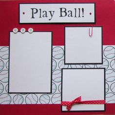 PLAY BALL 12x12 Premade Scrapbook Pages BaSEBaLL by JourneysOfJoy