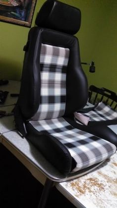 volvo plaid recaro retrim