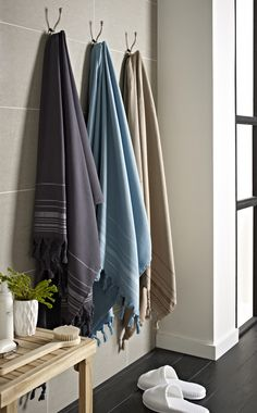 This is the authentic Hammam towel used in Turkish Hammam baths. Made from cotton with a soft terry lining, this large bath sheet is ultra absorbent and the perfect accessory for bathroom, pool or beach. Large Baths, Terry Towel, Bath Sheets, Bathroom Hooks, Steam Room, Towels, Cotton, Going Out, Stripes
