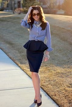 Nice Style Work, Style Me, Office Style, Outfit Elegantes, Cute Work Outfits, Estilo Blogger, Facon, Work Attire, Office Attire