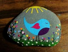 Rock Painting Concepts that will certainly motivate you to start developing! Do not be daunted by all the rocks you see. Rock painting ideas are perfect for novices! Painted Rock Animals, Painted Rocks Craft, Hand Painted Rocks, Painted Rock Cactus, Painted Stones, Rock Painting Patterns, Rock Painting Ideas Easy, Rock Painting Designs, Stone Painting