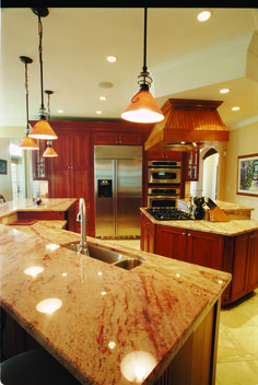 Find plenty of work space in this island kitchen. The Jerivale #1033