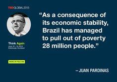 Juan Pardinas quoted at TEDGlobal 2013 / Photo: James Duncan Davidson