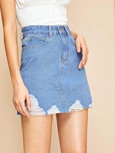 bb9d5b1797 Ripped Raw Hem Flakes Denim Shorts in 2019 | Demin Is Cool|Jeans ...